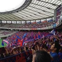 Das Foto wurde bei 味の素スタジアム ホーム側ゴール裏 von nownayoung am 6/23/2012 aufgenommen