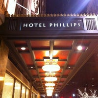 Photo taken at Hotel Phillips, Curio Collection by Hilton by Tony M. on 3/17/2012