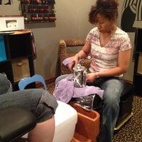 Снимок сделан в Hail The Hair King Salon & Spa пользователем Travis M. 4/13/2012