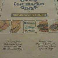 Снимок сделан в East Market Diner пользователем Robyne B. 3/1/2012