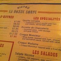 3/6/2012 tarihinde James C.ziyaretçi tarafından La Bonne Soupe'de çekilen fotoğraf