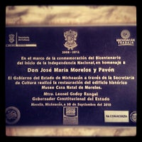 Снимок сделан в Casa Natal de Morelos пользователем José E. 7/29/2012