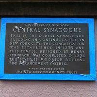 รูปภาพถ่ายที่ Central Synagogue โดย Justin เมื่อ 8/28/2012