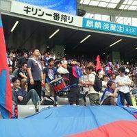 Das Foto wurde bei 味の素スタジアム ホーム側ゴール裏 von yasuzoh am 6/23/2012 aufgenommen
