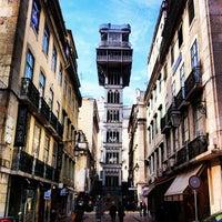 Elevador De Santa Justa Aussichtspunkt In Lisboa