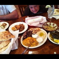 Photo taken at Afrah Mediterranean Restaurant & Pastries by Mandi W. on 6/16/2012