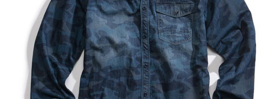 05fcf10b7 Stand out with a subtle camouflage pattern on this denim staple by GUESS.  Read more