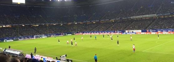Volksparkstadion Soccer Stadium In Bahrenfeld