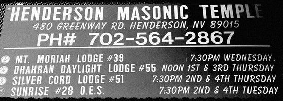 Henderson Masonic Lodge - Black Mountain - Henderson, NV