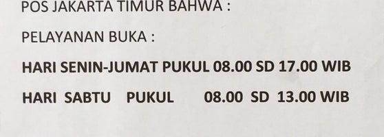 Kantor Pos Jakarta Timur 13000 Pulogadung Jl Pemuda No 79