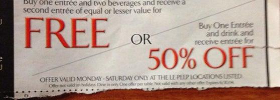 le peep coupons littleton colorado