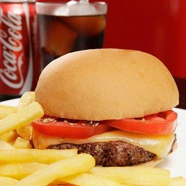 Burger Napoli ( Hamburger de fraldinha, queijo, tomate fatiado salpicado de orégano e azeite