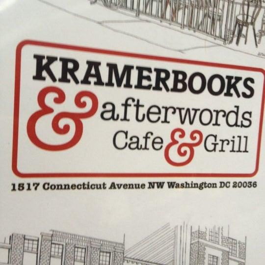 Photo prise au Kramerbooks & Afterwords Cafe par Brian B. le4/28/2012