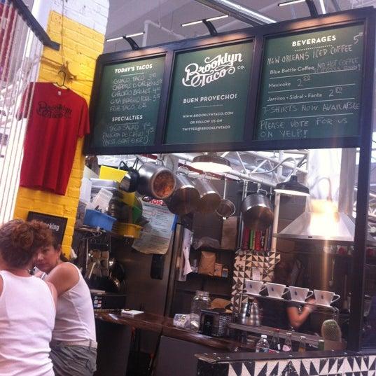 Снимок сделан в Brooklyn Taco Company пользователем SkeeterNYC 7/28/2012