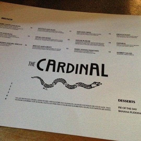 Das Foto wurde bei The Cardinal von Akeem A. am 11/17/2012 aufgenommen