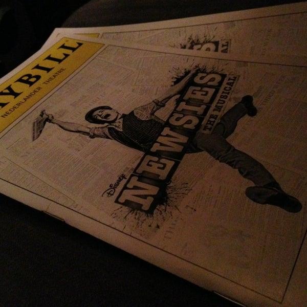 2/2/2013にMattがNederlander Theatreで撮った写真