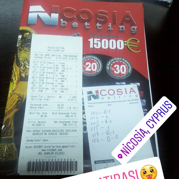 Sold out tickets nicosia betting tricast betting rules in no limit
