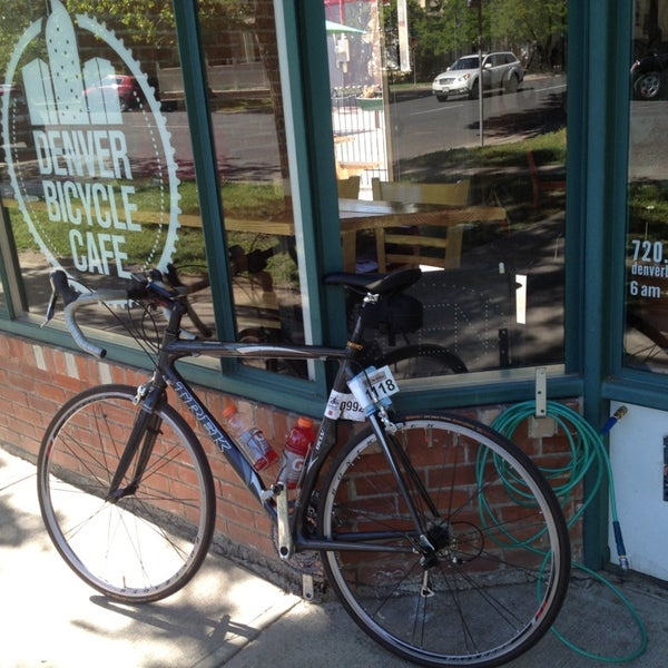 Photo taken at Denver Bicycle Cafe by Tim J. on 5/31/2013
