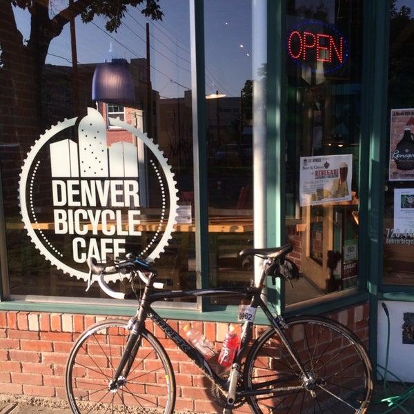 Photo taken at Denver Bicycle Cafe by Tim J. on 7/18/2014