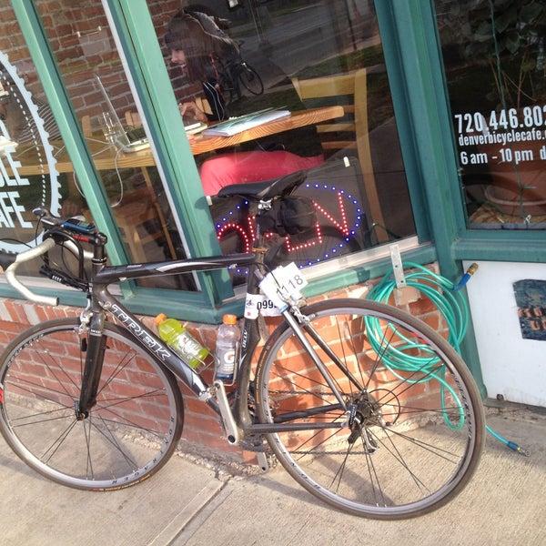 Photo taken at Denver Bicycle Cafe by Tim J. on 5/4/2013