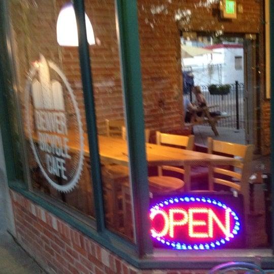 Photo taken at Denver Bicycle Cafe by Tim J. on 9/15/2012