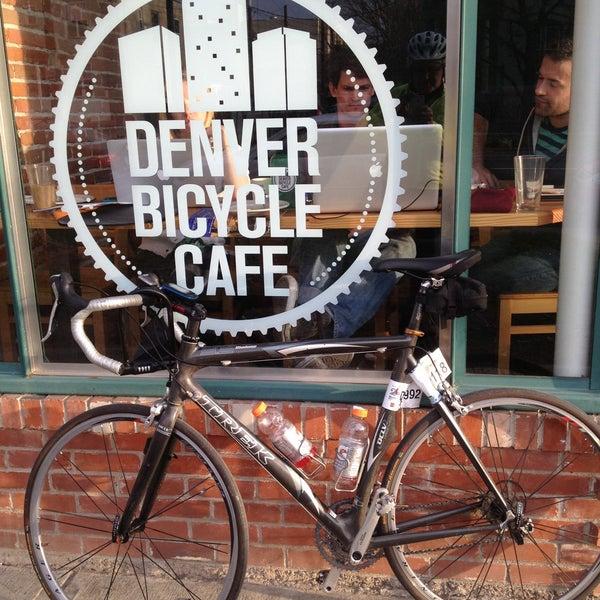 Photo taken at Denver Bicycle Cafe by Tim J. on 5/6/2013
