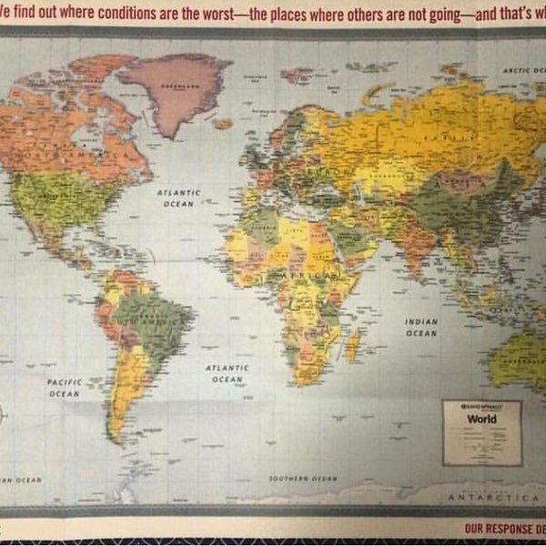Doctors Without Borders World Map on
