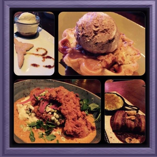 Absolutely delightful, from the chicken fried buffalo steak, to the butterscotch sea salt caramel pudding 😋!