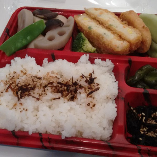 Ready to go sushi and Bento anywhere from $3 - $12+. Cucumber and plum sushi is the best and for $3. Microwave to heat and space to sit and eat in store.