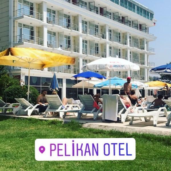 Das Foto wurde bei Pelikan Otel von Yakup G. am 7/23/2017 aufgenommen