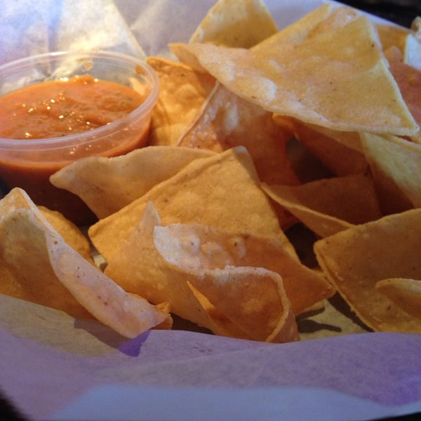 Free chips and salsa during happy hour.