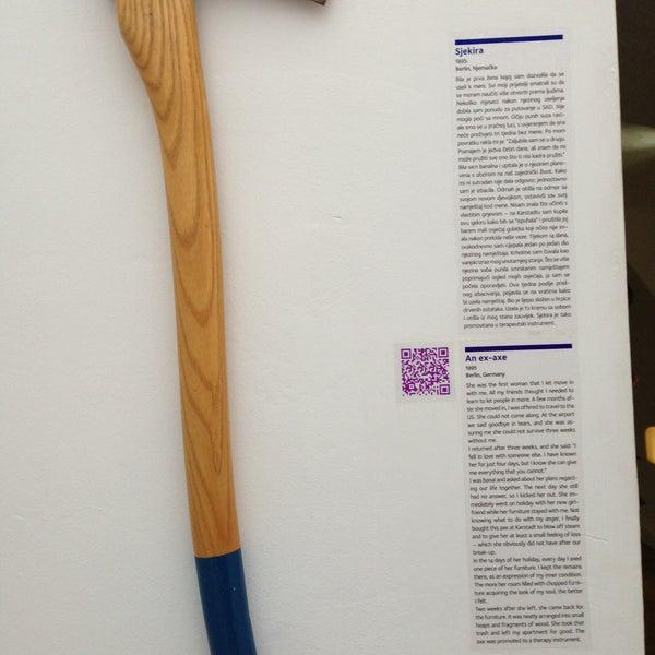 5/26/2013 tarihinde Yoanna M.ziyaretçi tarafından Muzej prekinutih veza | Museum of Broken Relationships'de çekilen fotoğraf