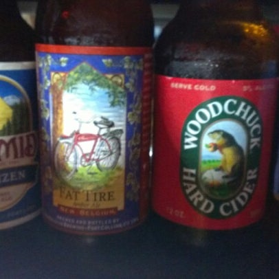 Now stocking fat tire, pyramid hefe, and woodchuck cider. Try one!