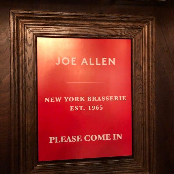 Photo prise au Joe Allen par Gregor Z. le4/20/2019
