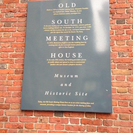 12/2/2012 tarihinde Jess D.ziyaretçi tarafından Old South Meeting House'de çekilen fotoğraf