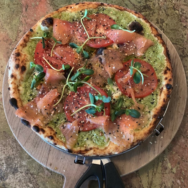 Avo lox pizza is excellent