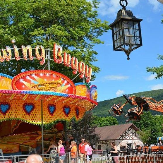 DelGrosso's Amusement Park in Tipton, Pa., has been family owned and operated for over 50 years. Visitors can enjoy a fun-filled day on rides like the Patratrooper or the beautiful Antique Carousel.