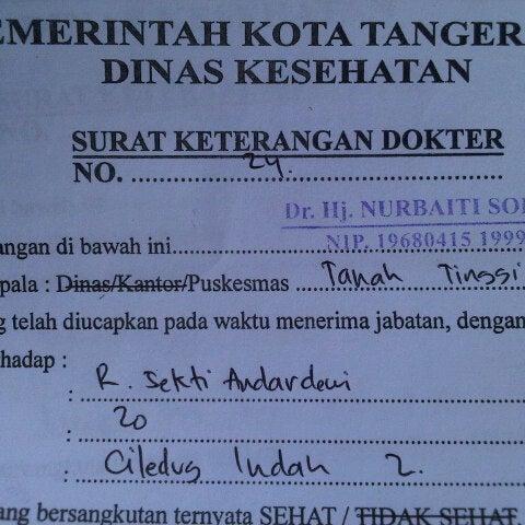 Puskesmas Tanah Tinggi Tangerang Banten