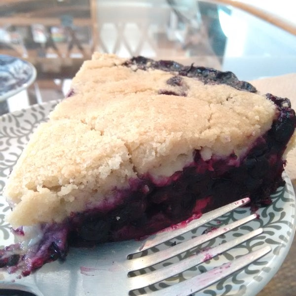 Crumble de blueberry