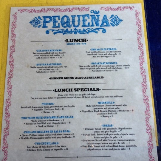 Pequeña - Mexican Restaurant in Fort Greene