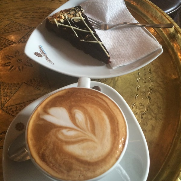 Amazing cappuccino and really good cakes!