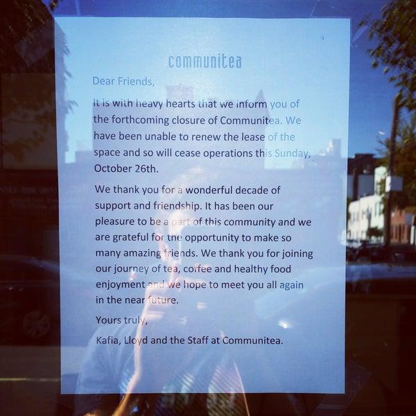 Communitea is now closed :-(