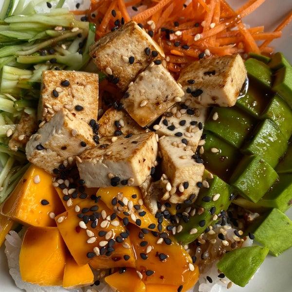 Está excelente el bowl vegano