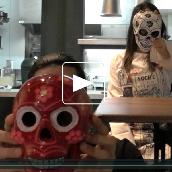 """The chef in action doing our smoked squid! :) Click on """"Read more"""" to watch the video."""