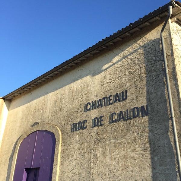 Das Foto wurde bei Château Roc de Calon von Thomas L. am 11/8/2015 aufgenommen