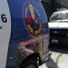 GPS Enabled Vans, All Around Los Angeles. Call Us for your Next plumbing service!