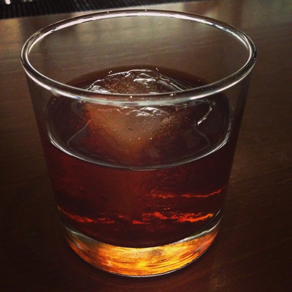 Say hello to The Big Easy. A put-hair-on-your-chest cocktail consisting of Rittenhouse rye, Remy Martin VSOP cognac, sweet vermouth, benedictine and absinthe.