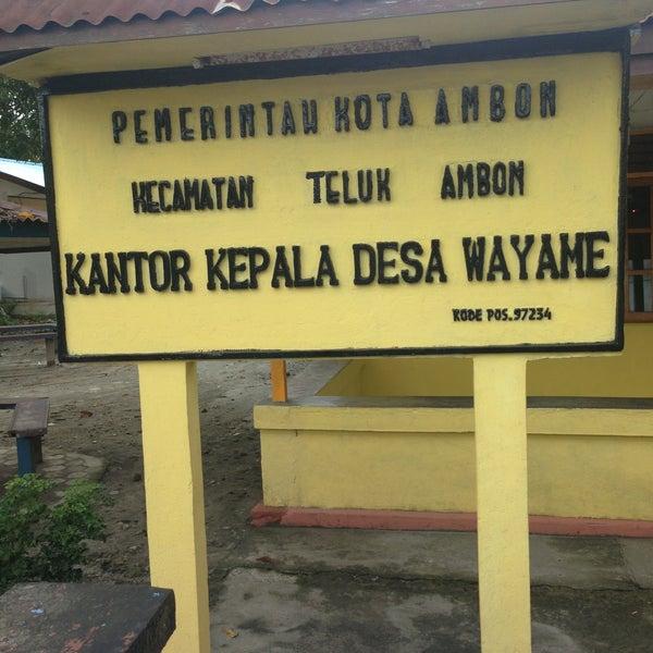 Kantor Desa Wayame Ambon Maluku