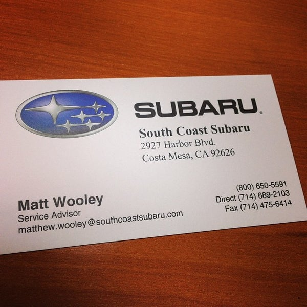 South Coast Subaru >> Photos At South Coast Subaru Auto Dealership In Mesa Verde