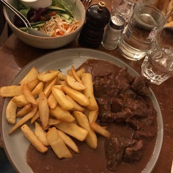 Beef stew with fries were super good